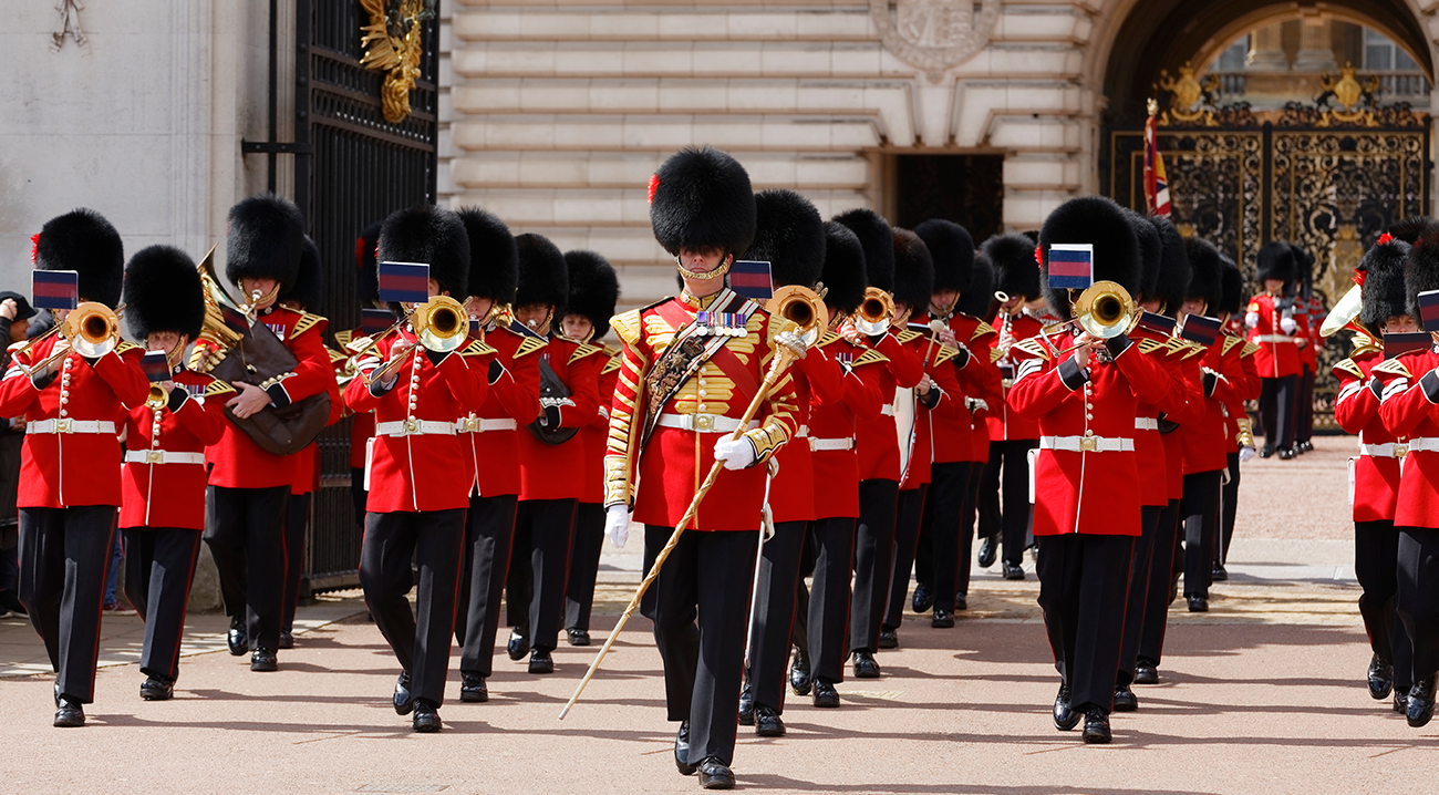 Mudança de Guarda no Palácio Real de Buckingham em Londres
